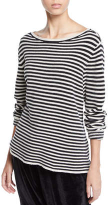 Eileen Fisher Chenille Striped Sweater, Petite