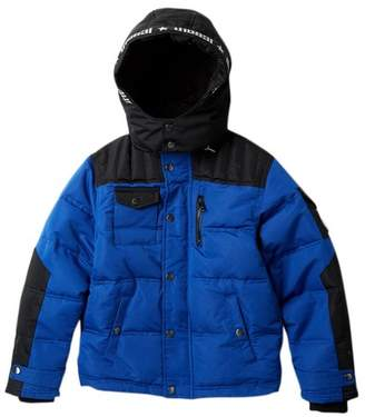 Diesel Bubble Jacket with Faux Fur Lining (Big Boys)