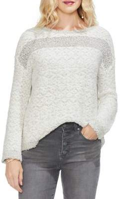 Vince Camuto Sapphire Sheen Textured Sweater