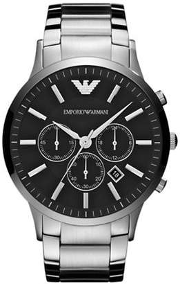 Emporio Armani Men's Large Round Silver Watch