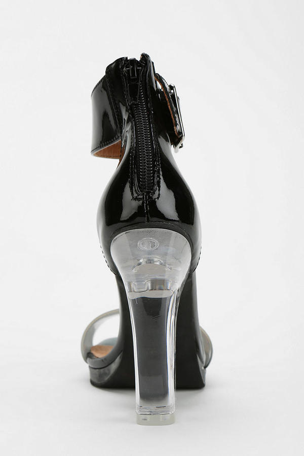 Jeffrey Campbell Soiree Patent Clear-Heeled Sandal