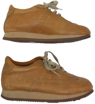 Hermes Camel Leather Trainers