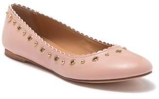 Love Moschino Rosa Studded Ballet Flat