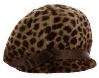 Eugenia Kim Animal Print Ponyhair Hat