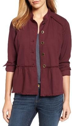 Women's Caslon Twill Peplum Jacket $75 thestylecure.com
