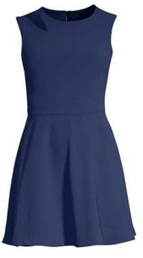Alice + Olivia Pearlie Cut Out Party Fit-&-Flare Dress