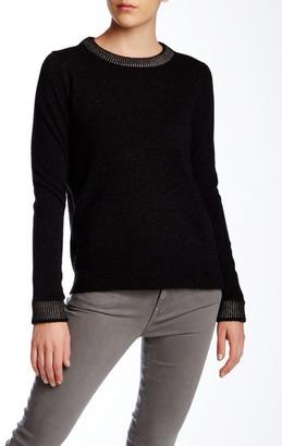 VINCE. Foil Print Wool Blend Crew Neck Sweater $325 thestylecure.com