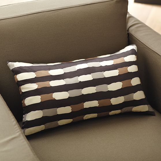 Painted Stripe Pillow Cover