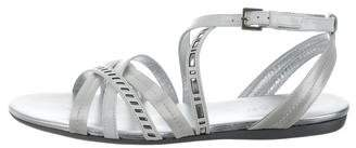 Hogan Leather Multistrap Sandals