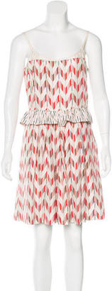 Marc by Marc Jacobs Pleated Chevron Print Dress $65 thestylecure.com