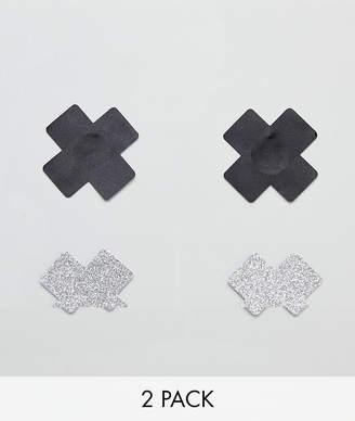 Asos Design 2 Pack Cross Nipple Stickers