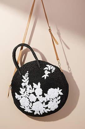 Anthropologie Garden Raffia Crossbody Bag