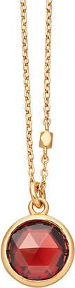 Astley Clarke Stilla 18ct gold-plated garnet pendant necklace