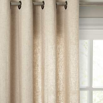 John Lewis & Partners Washed Linen Voile Eyelet Panel
