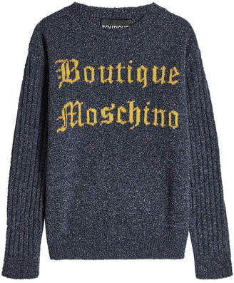 Moschino Logo Pullover with Virgin Wool