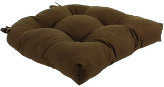 """Everythings Comfy Brown Colored Indoor / Outdoor Seat Cushion Patio D Cushion 20"""" x 20"""", 2 Tie Backs"""