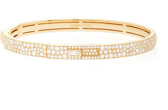 Jemma Wynne 18k yellow gold pave cuff with keyhole lock