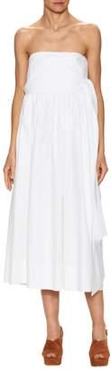 Jill Stuart Women's Lindley Cotton Strapless Midi Dress