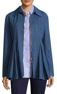 Maggie Marilyn George III Denim Ruffle Jacket