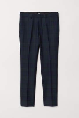 H&M Slim fit Wool-blend Pants - Black