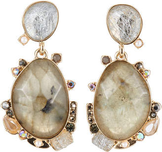 Lydell NYC Mixed-Stone Drop Earrings