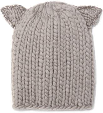 Eugenia Kim Felix Crystal-embellished Wool Beanie - Mushroom