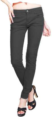 Hollywood Star Fashion Misses French Terry Skinny Pant Jeggings Cotton Stretch Color Legging Basic Pants