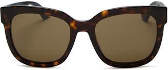 Gucci Logo Square Sunglasses, 54mm