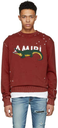 Amiri Red Alligator Sweatshirt