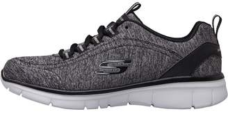 Skechers Womens Deluxe Zen Trainers Black/White