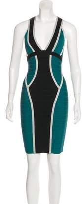Herve Leger Eyvette Bandage Dress