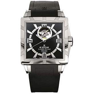 Edox Men's 'Classe Royale' Swiss Automatic Stainless Steel and Rubber Casual Watch