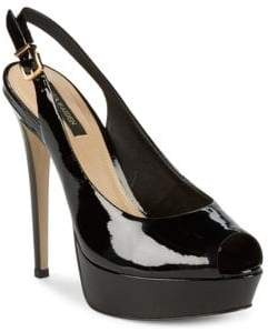 Ava & Aiden Patent Leather Slingback Pumps