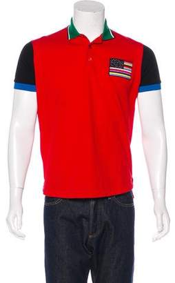 Givenchy Colorblock Flag Polo Shirt