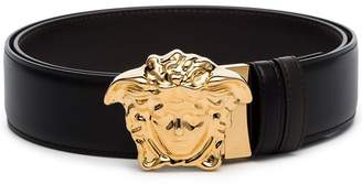 Versace black Medusa Head Belt