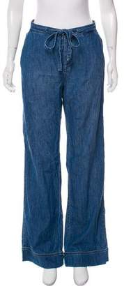Equipment Mid-Rise Wide-Leg Jeans