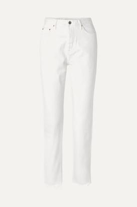 GRLFRND Devon Frayed High-rise Straight-leg Jeans