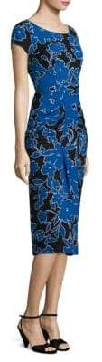 Michael Kors Floral Silk Sarong Dress
