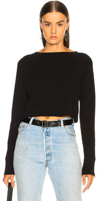 Alexander Wang Cropped Boatneck Sweater