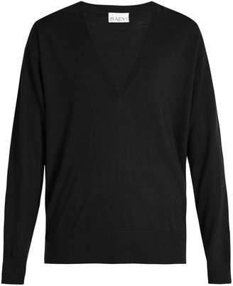 Raey V-neck fine-knit cashmere sweater