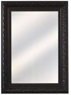 MirrorOutlet Antique Style Black Wall Mirror Rectangle Wall Mounted 3Ft10 X 2Ft10 (117X87Cm) Single (30)