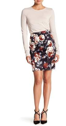 Theory Hourglass Floral Print Skirt
