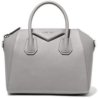 Givenchy Antigona Small Textured-leather Tote - Gray