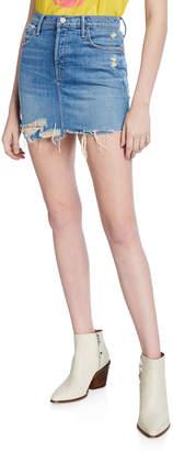Mother Vagabond Distressed Frayed Mini Skirt