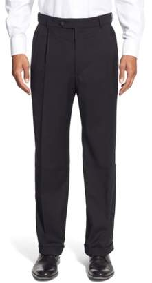 Ballin Pleated Solid Wool Trousers