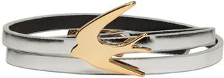 McQ Alexander Mcqueen Silver Swallow Mini Wrap Bracelet $65 thestylecure.com