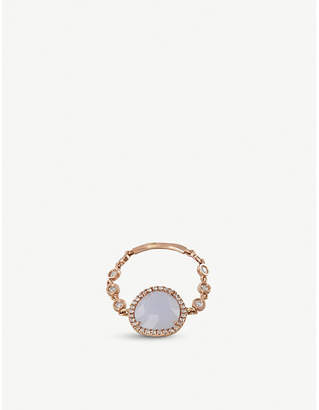 Meira T The Alkemistry 14ct rose gold and diamond ring