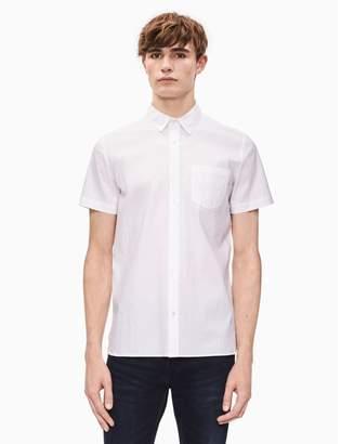 Calvin Klein regular fit seersucker short sleeve shirt