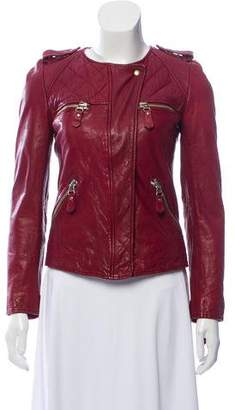 Etoile Isabel Marant Zip-Up Leather Jacket