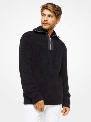 Michael Kors Cotton Quarter-Zip Sweater